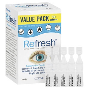Refresh Preservative Free Eye Drops 50 x 0.4 mL