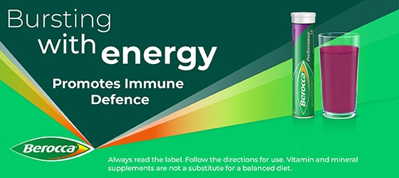 Berocca Energy Vitamin Raspberry Blackcurrant Effervescent Tablets 15 pack