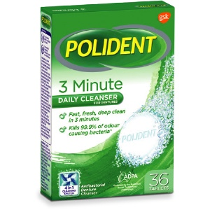 Polident 3 minute Cleanser Tablets 36 pack