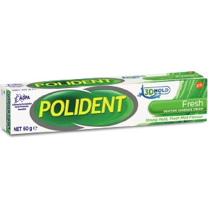 Polident Denture Adhesive Cream fresh mint 2 x 60g