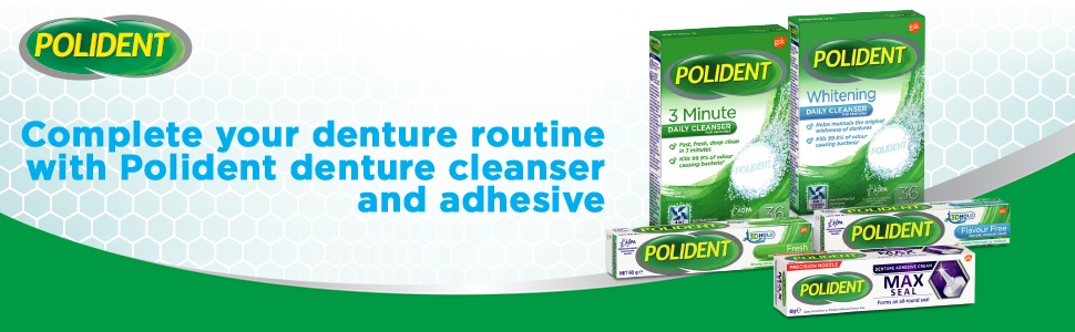 Polident Denture Cleanser Whitening Tablets 36s