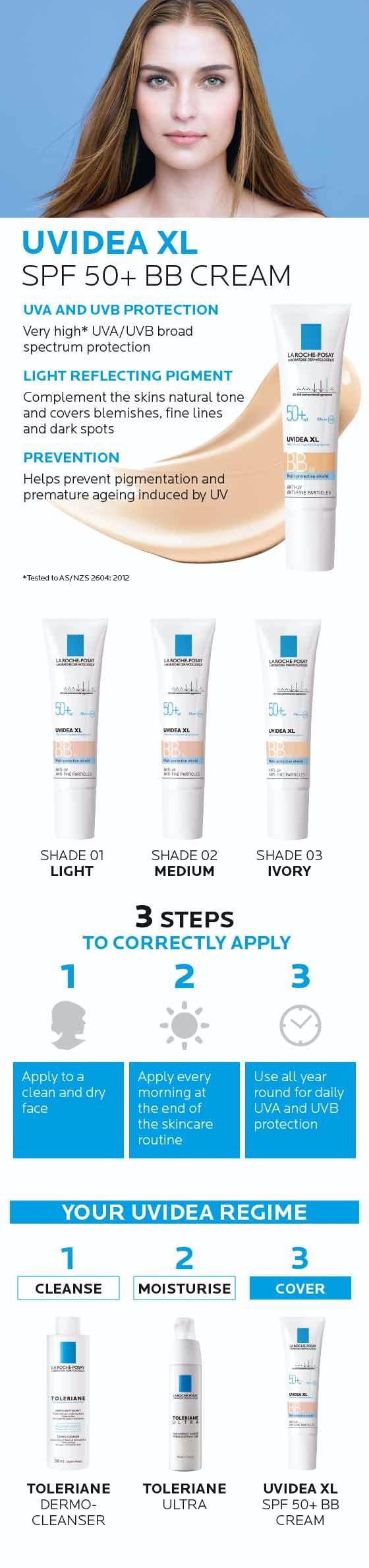 La Roche-Posay Uvidea XL BB Cream Shade 02 Medium 30ml