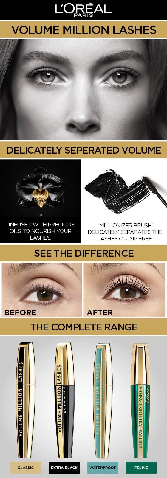 9fb87680516 General Information. Ultra black, ultra defined volume for your eyes. L'Oréal  Paris Mascara