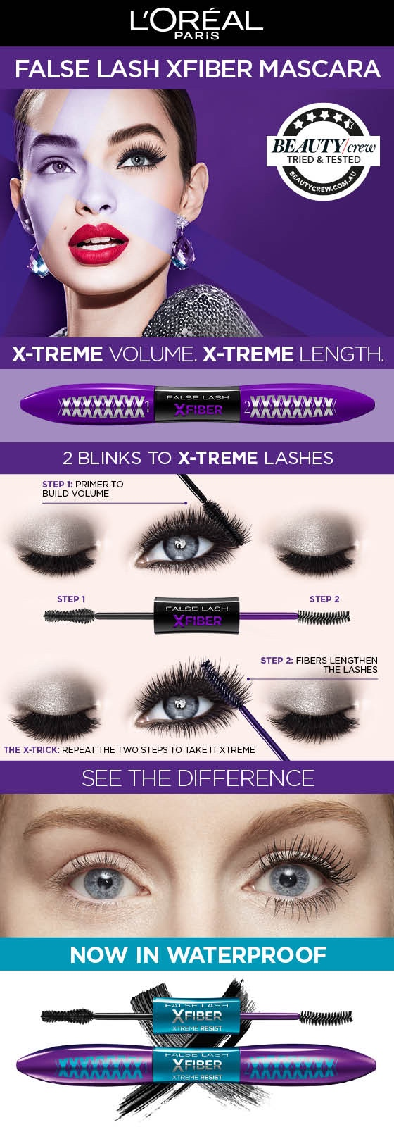 81387b3d1dd Buy L'Oreal False Lash X-Fiber Mascara Black Online at Chemist ...