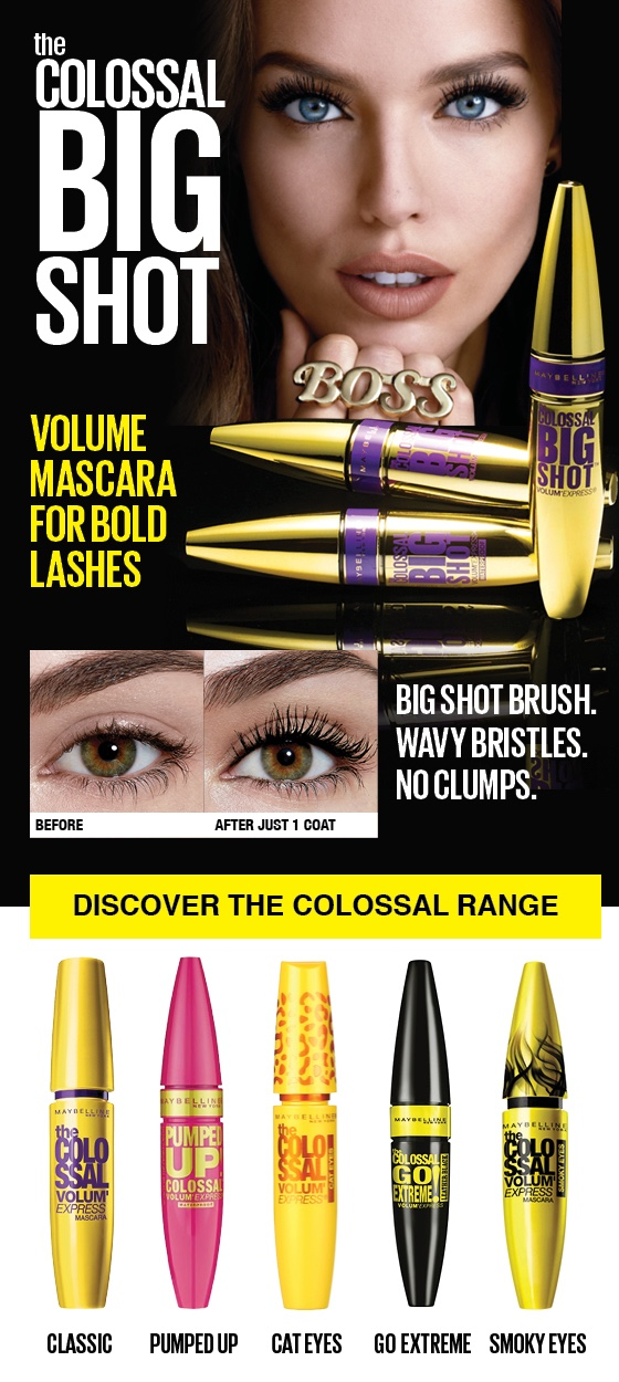 Maybelline Colossal Volumizing Waterproof Mascara - Glam Black