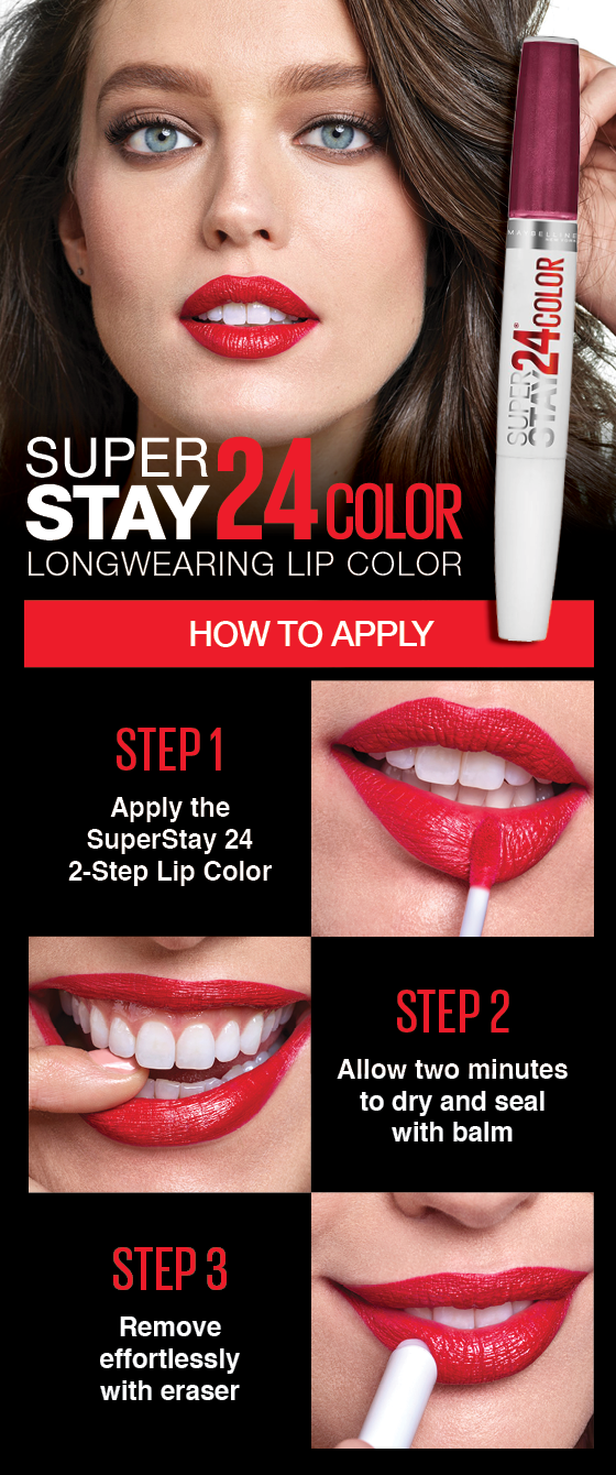 Maybelline Superstay 24 2-Step Longwear Liquid Lipstick - All Day Cherry 015