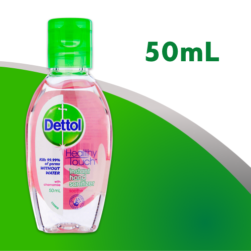 Dettol Healthy Touch Liquid Antibacterial Instant Hand Sanitisier Chamomile 50mL