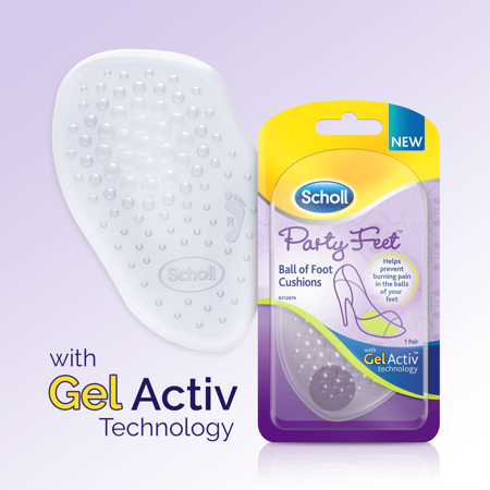 Scholl Party Feet Inserts Ball of Foot Cushion