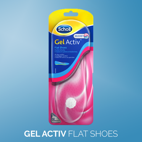 Scholl GelActiv Female Insoles for Flat Shoes