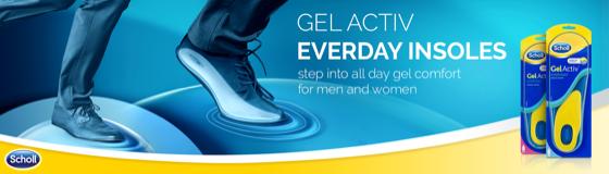 Scholl Gel Activ Sport Insoles Men