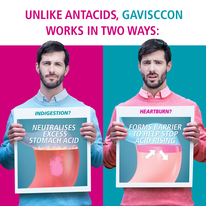 Buy Gaviscon Dual Action Chewable Tablets Peppermint Heartburn