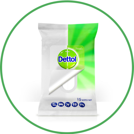 Dettol 2 in 1 Hands & Surfaces Anti-Bacterial Wipes