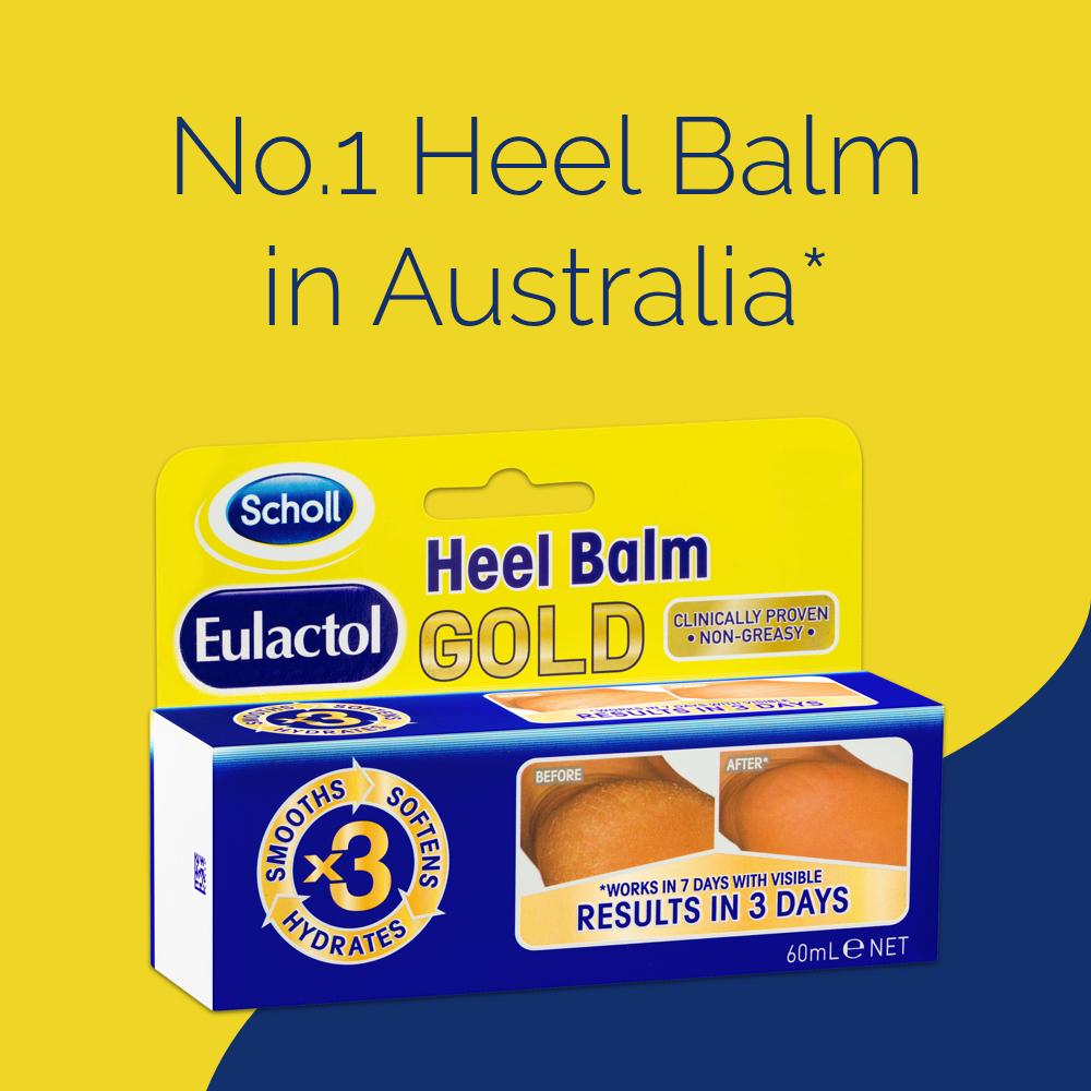 Scholl Eulactol Cracked Heel Balm Gold
