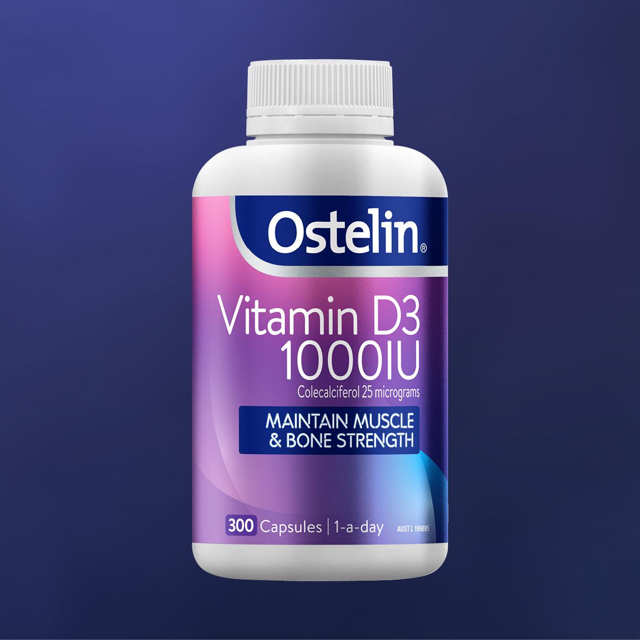 Ostelin Vitamin D3 1000IU Capsules 60 Pack