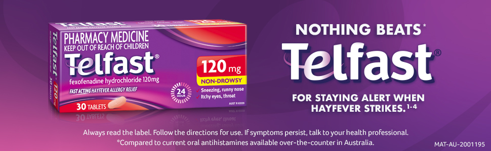 Telfast 120mg Tablets 30 Pack
