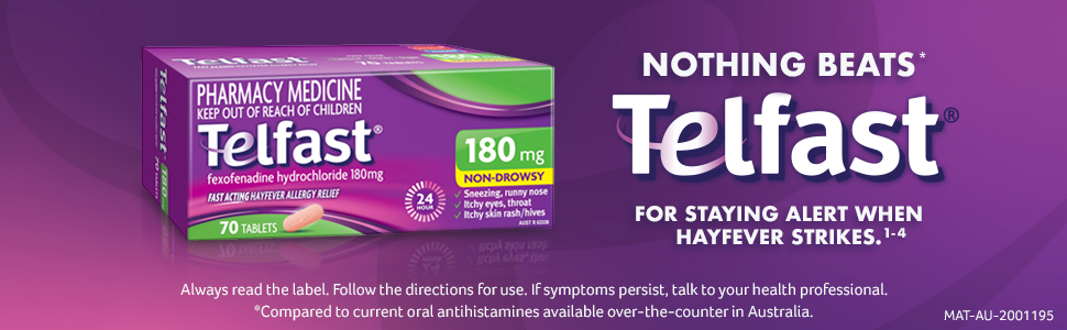 Telfast 180mg Tablets 70 Pack