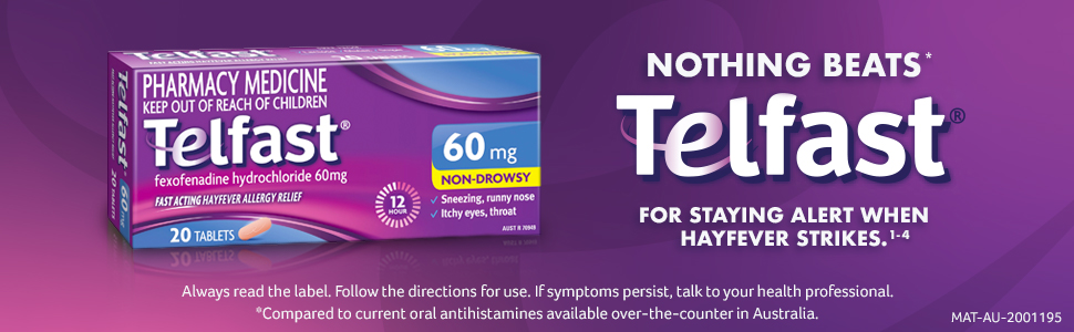 Telfast 60mg Tablets 20 Pack
