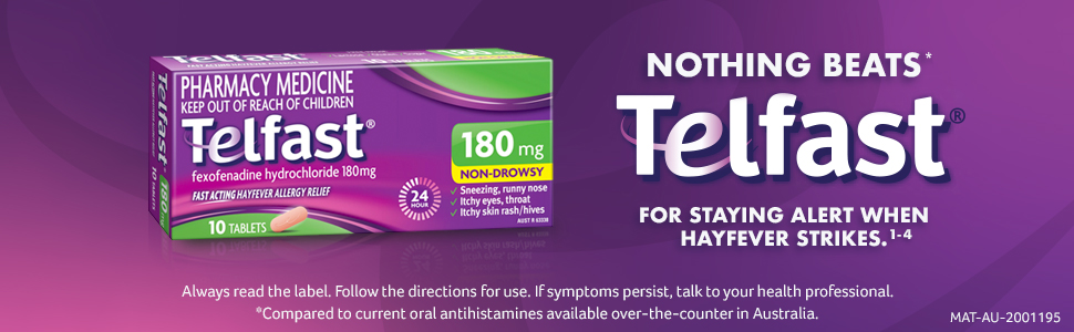 Telfast 180mg Tablets 10 Pack