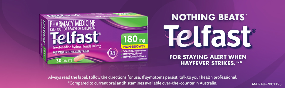 Telfast 180mg Tablets 30 Pack